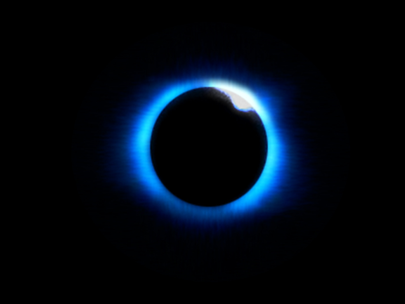 Solar eclipse totality.